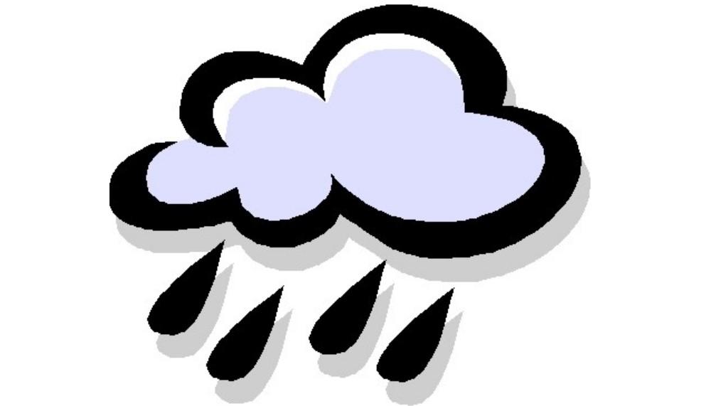 Ilustracja do informacji: Ostrzeżenie - intensywne opady deszczu !
