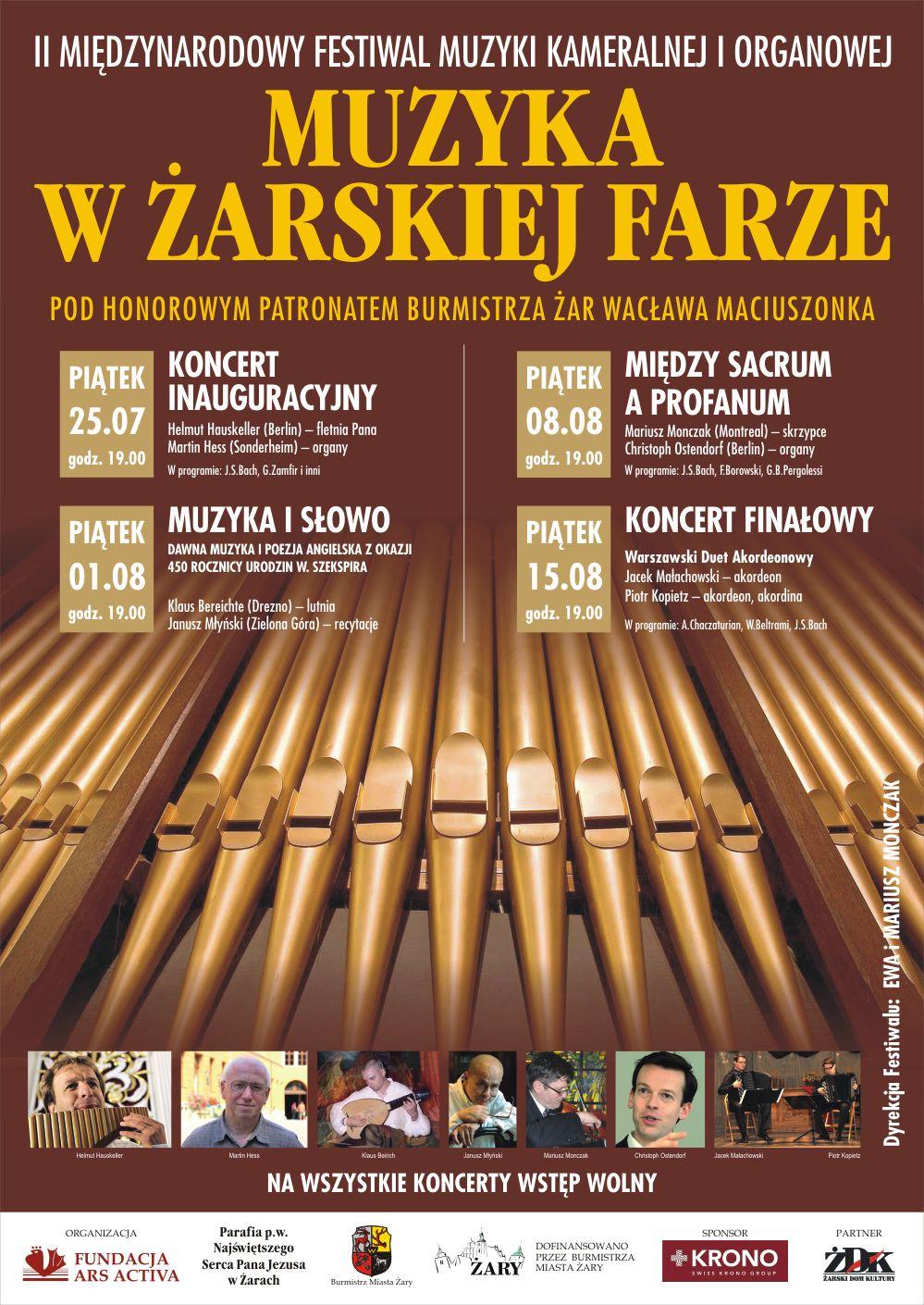 Ilustracja do informacji: II Festiwal Muzyki Kameralnej i Organowej