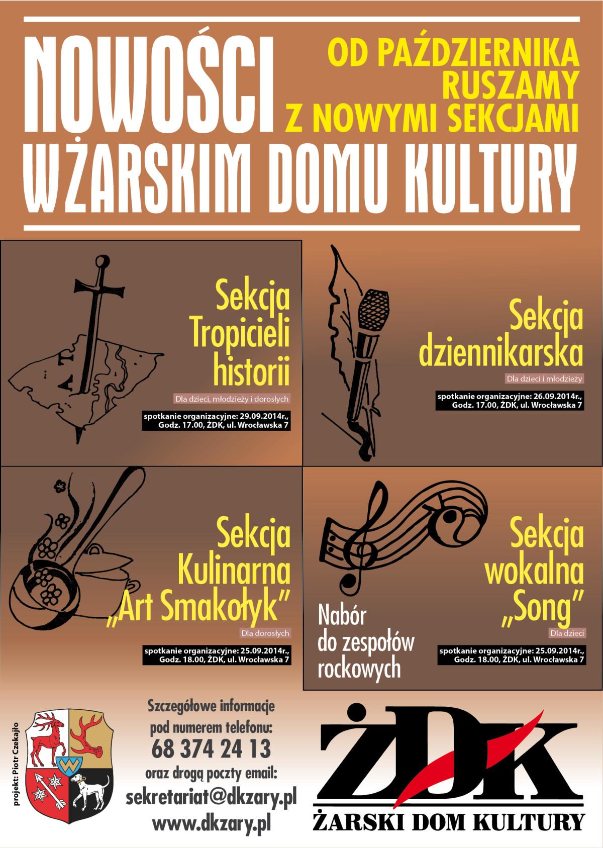 Ilustracja do informacji: Nowe sekcje w Żarskim Domu Kultury