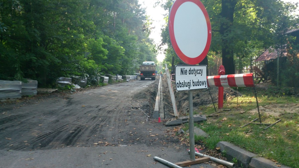 Ilustracja do informacji: Leśna w budowie