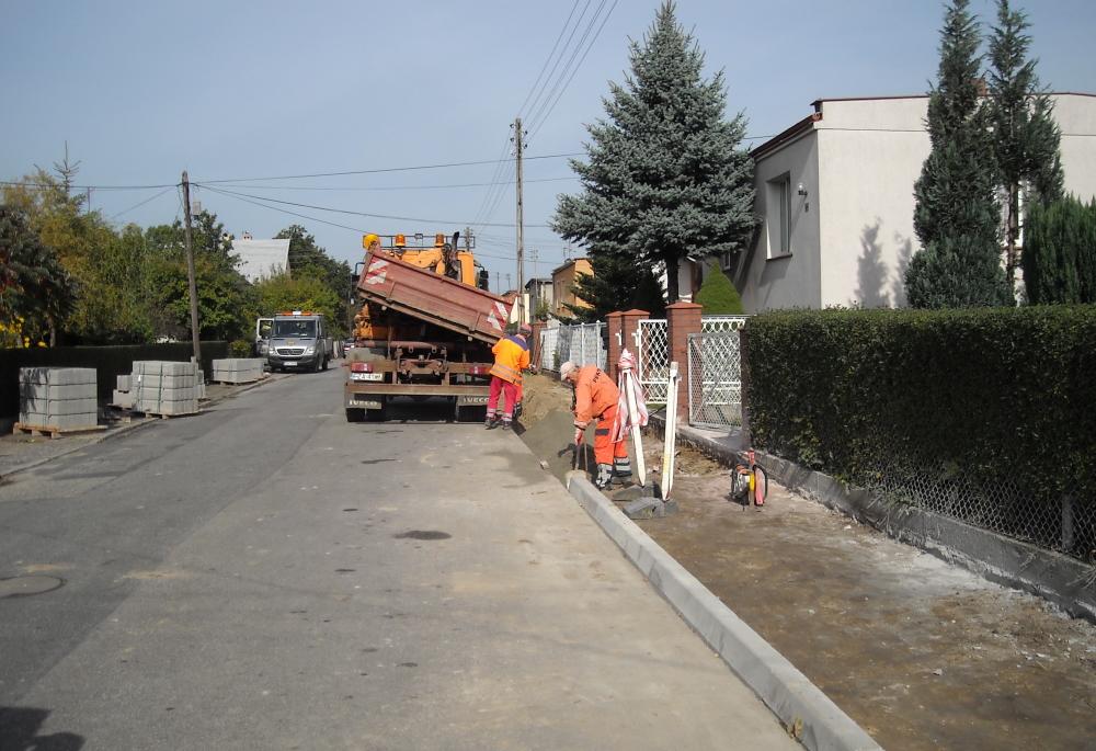 Ilustracja do informacji: Nowe chodniki na ul. Wileńskiej