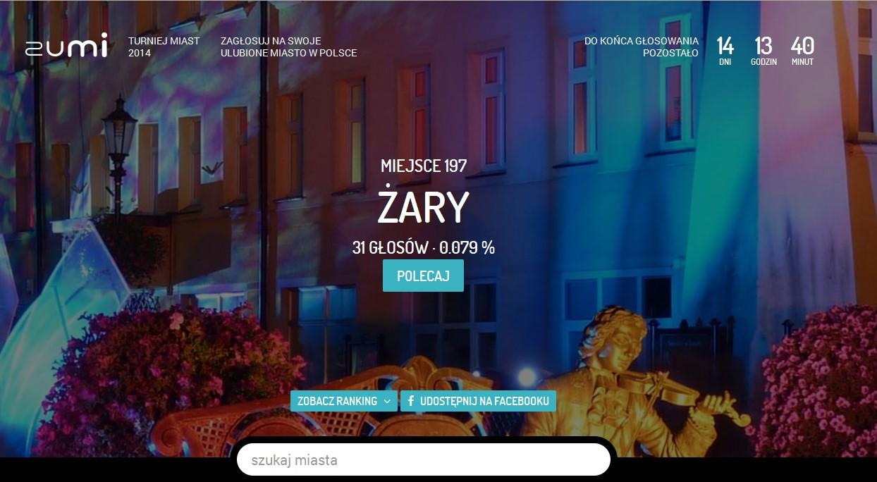 Ilustracja do informacji: Zagłosuj na Żary !