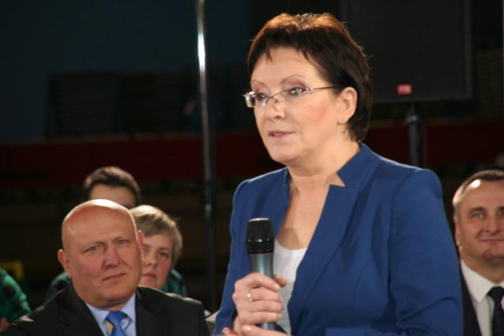 Ilustracja do informacji: Premier Ewa Kopacz w Żarach