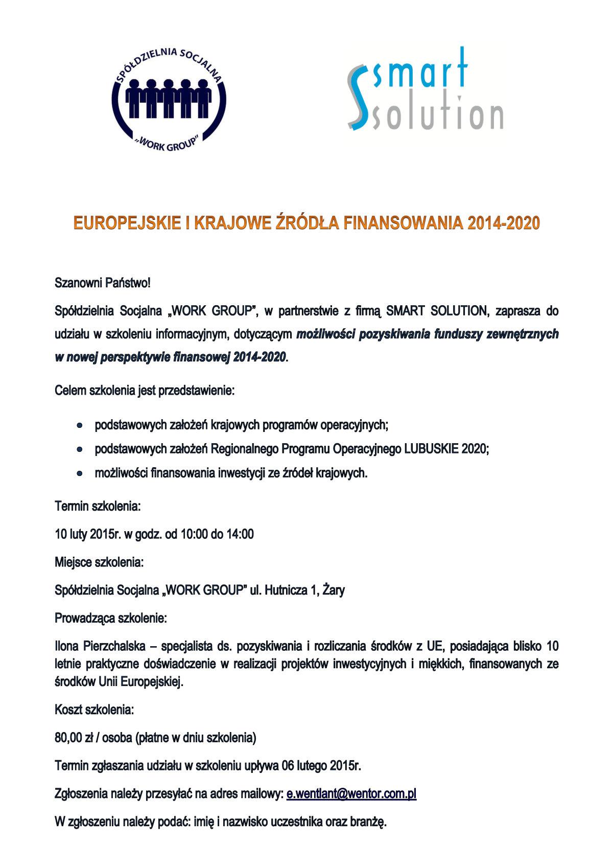 Ilustracja do informacji: Zaproszenie do udziału w szkoleniu