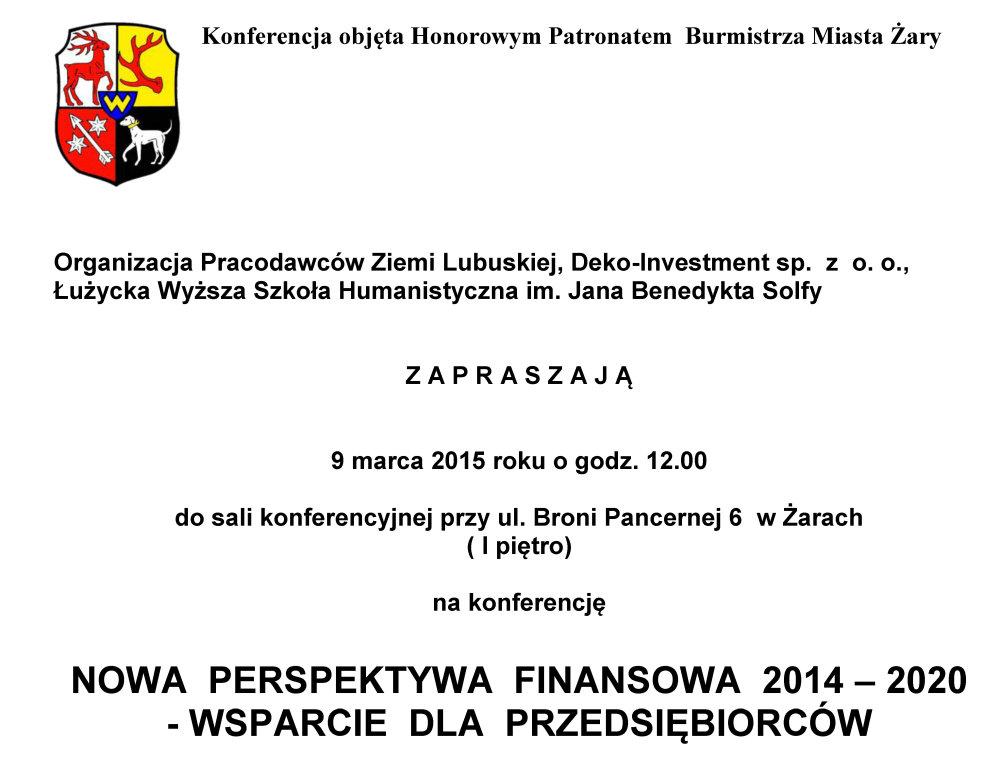 Ilustracja do informacji: NOWA PERSPEKTYWA FINANSOWA 2014 – 2020 - WSPARCIE DLA PRZEDSIĘBIORCÓW