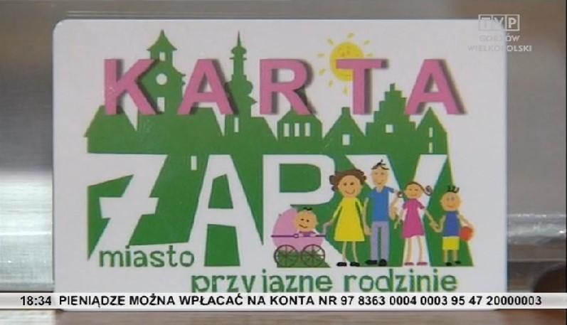"""Ilustracja do informacji: TVP Gorzów Wielkopolski w Żarach o Karcie- """"Żary Miast Przyjazne Rodzinie"""""""