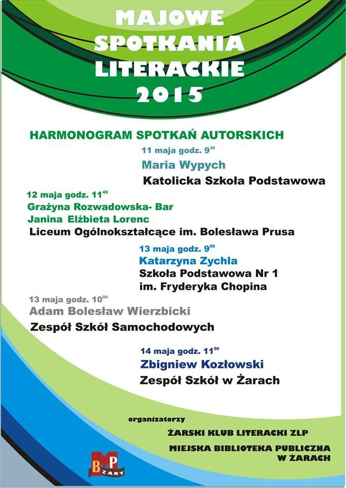 Ilustracja do informacji: Majowe Spotkania Literackie w Miejskiej Bibliotece Publicznej w Żarach