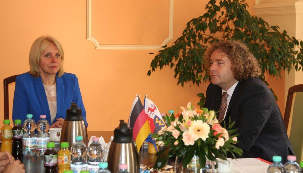Ilustracja do informacji: Burmistrz Weißwasser z wizytą w Żarach