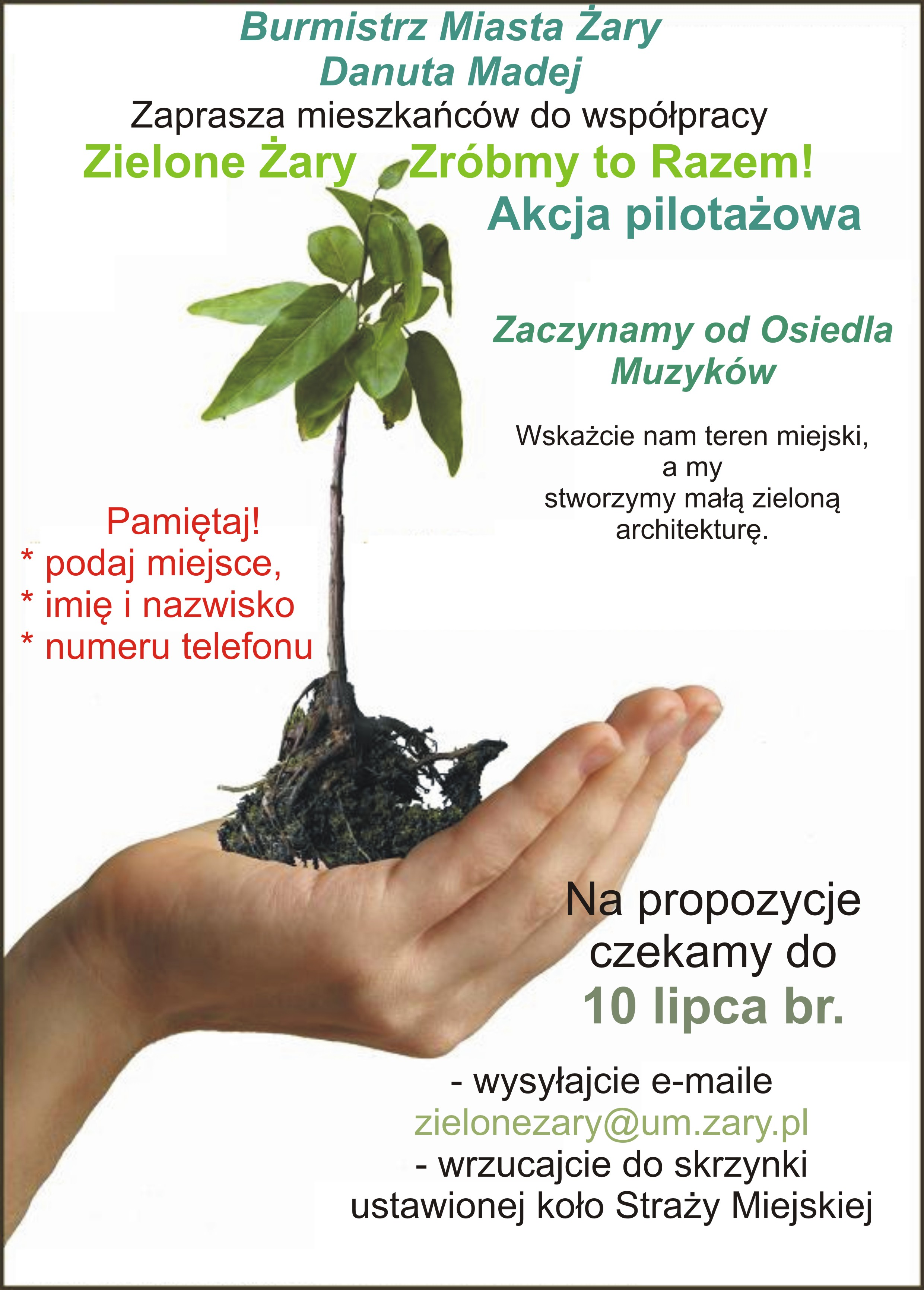Ilustracja do informacji: Zielone Żary - Zróbmy to Razem!