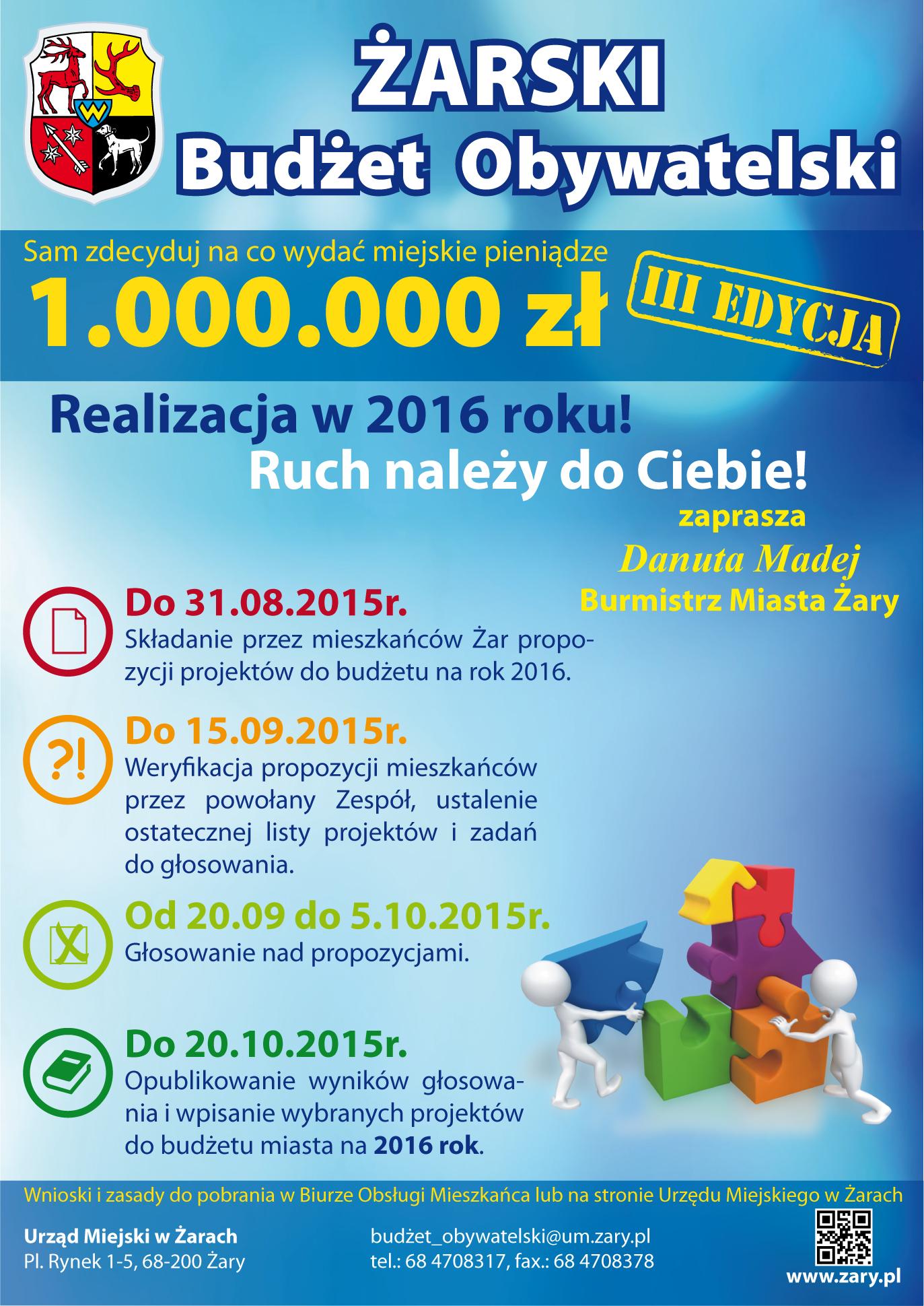Ilustracja do informacji: Wspólnie zdecydujmy na co wydać 1 000 000 złotych