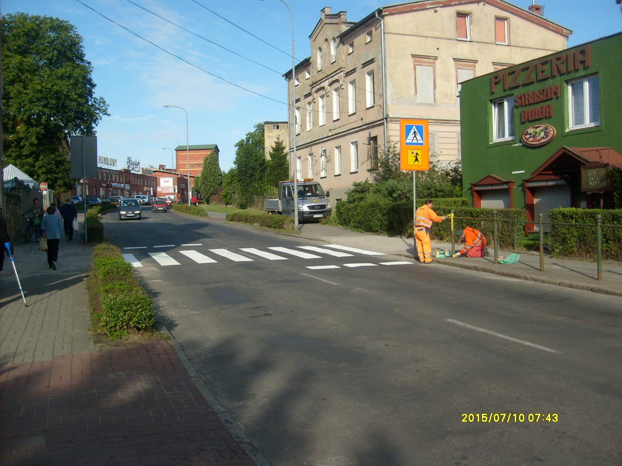 Ilustracja do informacji: Przejście dla pieszych na ul. Moniuszki