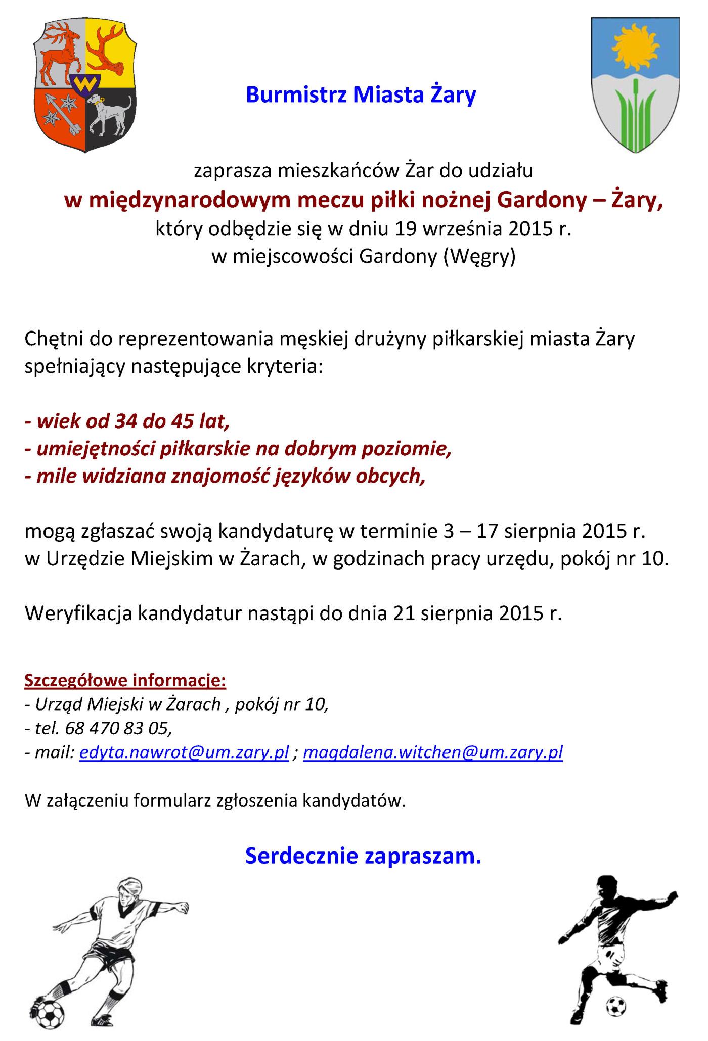 Ilustracja do informacji: Mecz Gardony – Żary
