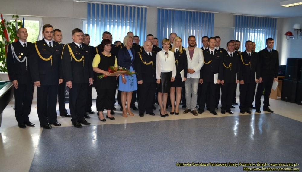 Ilustracja do informacji: Burmistrz Żar podziękowała strażakom