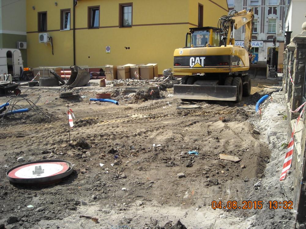 Ilustracja do informacji: Trwają prace na łączniku ul. Buczka i Podwale