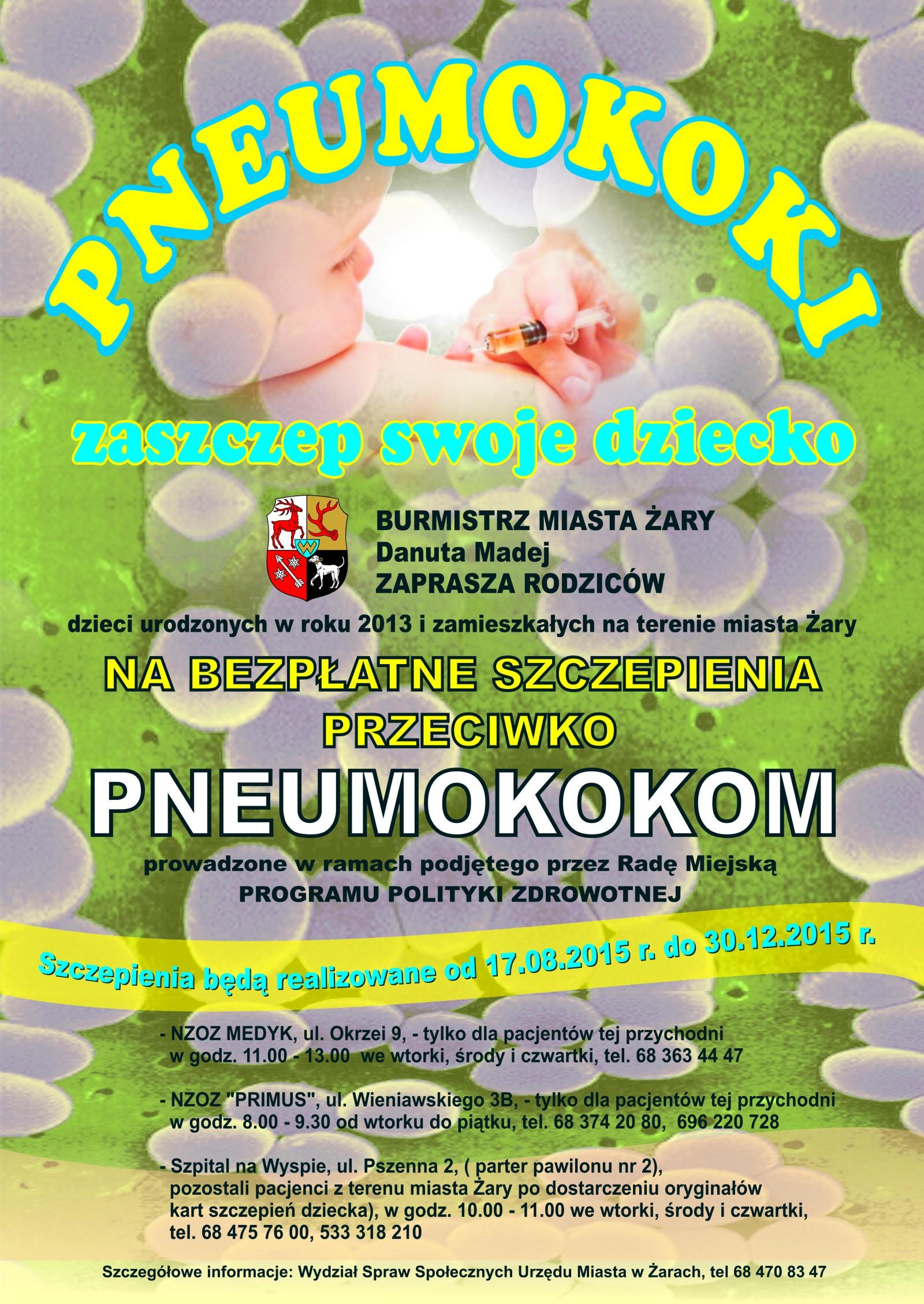 Ilustracja do informacji: Bezpłatne szczepienia przeciwko pneumokokom.