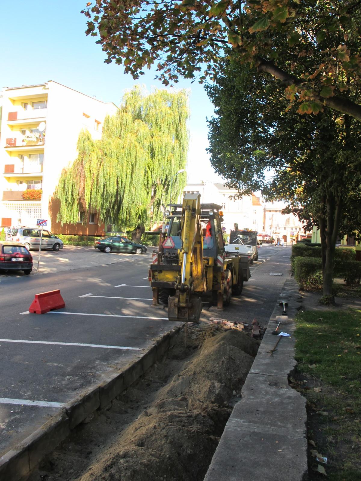 Ilustracja do informacji: Chodnik na ulicy ratuszowej w Żarach
