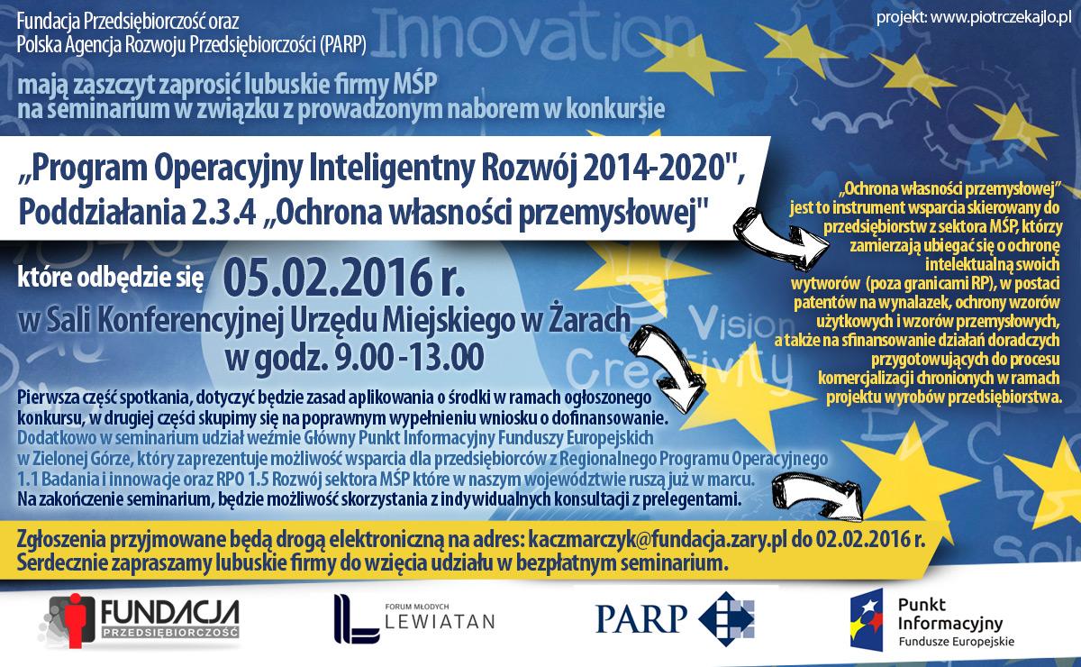 """Ilustracja do informacji: Program Operacyjny Inteligentny Rozwój 2014-2020"""", Poddziałania 2.3.4 """"Ochrona własności przemysłowej"""