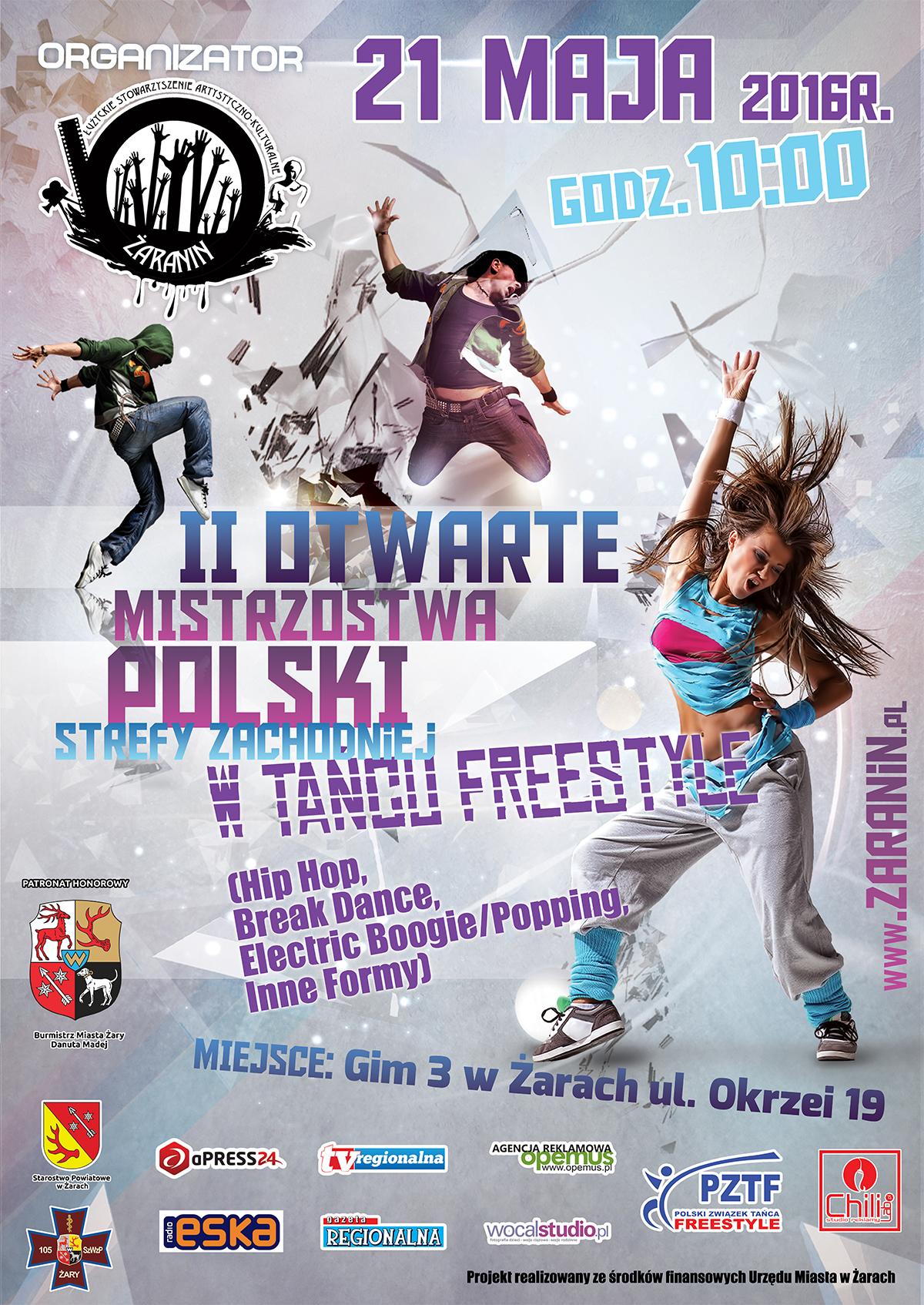 Ilustracja do informacji: II Mistrzostwa Polski Zachodniej w Tańcu Freestyle