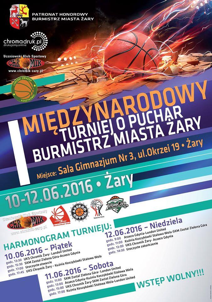 Ilustracja do informacji: Międzynarodowy Turniej o puchar Burmistrz Miasta Żary