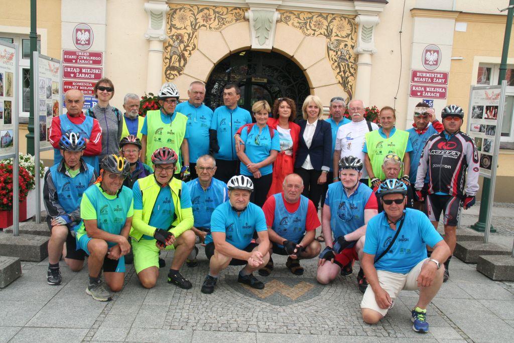 Ilustracja do informacji: Rajd rowerowy w Żarach