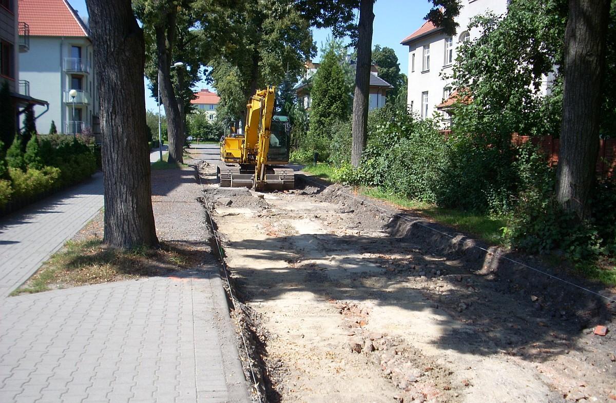 Ilustracja do informacji: Rozpoczął się remont ulicy Spokojnej