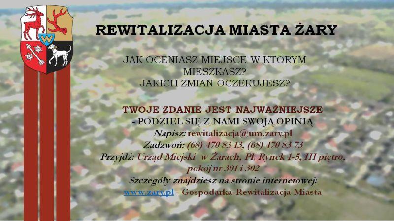 Ilustracja do informacji: REWITALIZACJA MIASTA ŻARY