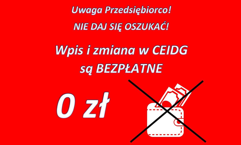 Baner: CEIDG rejestracja