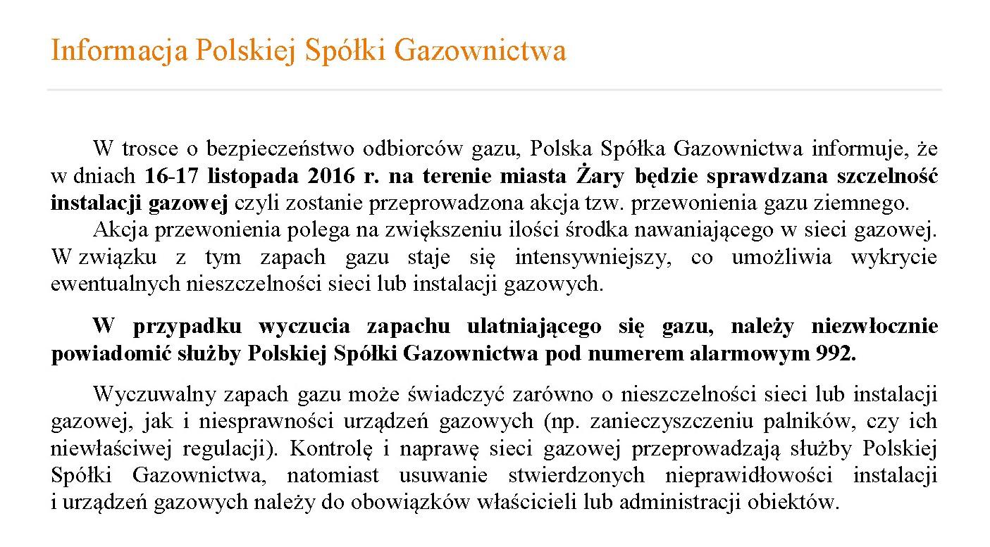 Ilustracja do informacji: Informacja Polskiej Spółki Gazownictwa