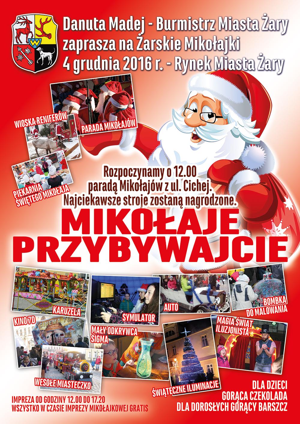 Ilustracja do informacji: Żarskie Mikołajki