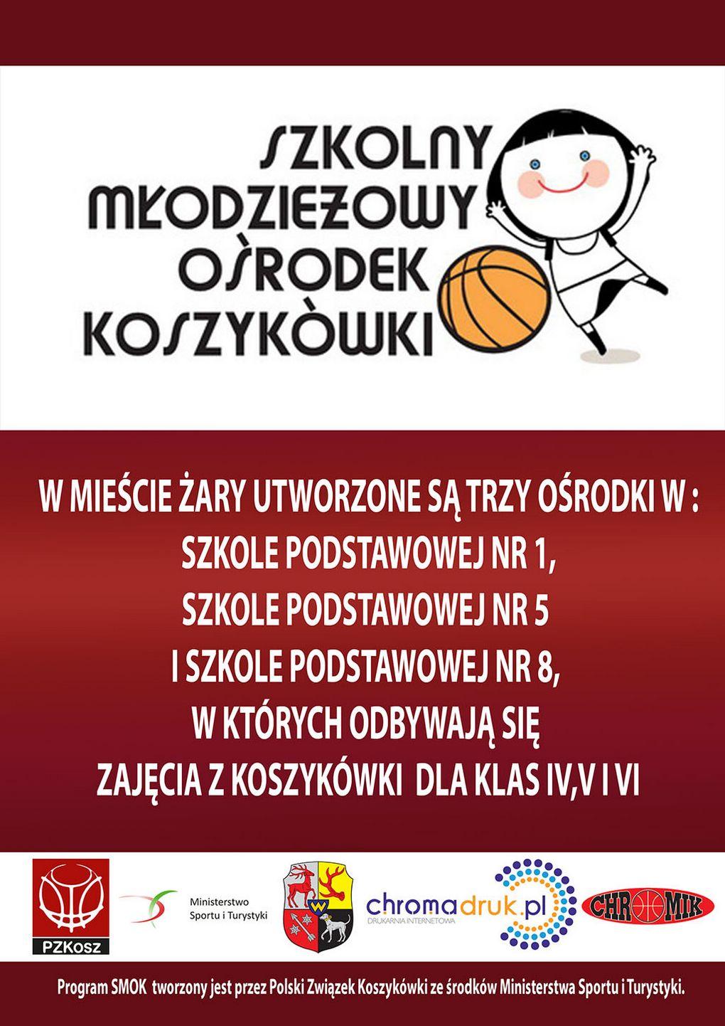 Ilustracja do informacji: Szkolne Młodzieżowe Ośrodki Koszykówki (SMOK) – dla dziewcząt lub chłopców w Żarach