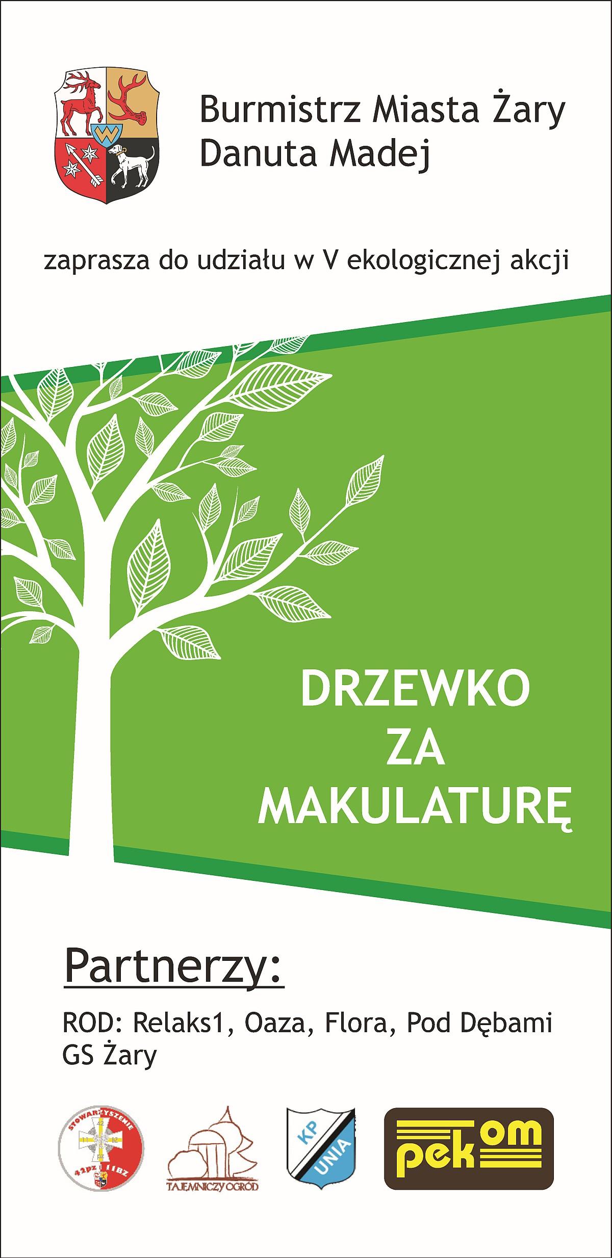 Ilustracja do informacji: Drzewko za makulaturę