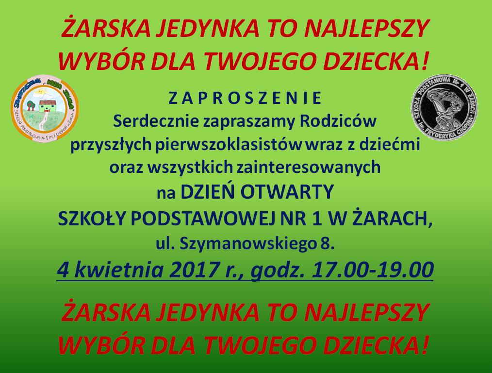Ilustracja do informacji: Dni otwarte Szkoły Podstawowej Nr 1 w Żarach