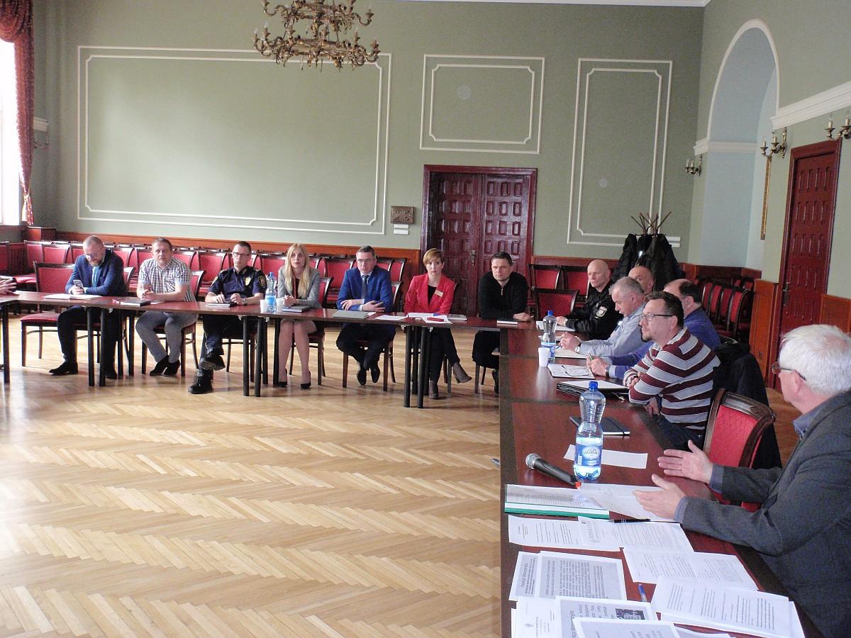 Ilustracja do informacji: Posiedzenie Miejskiego Zespołu Zarządzania Kryzysowego