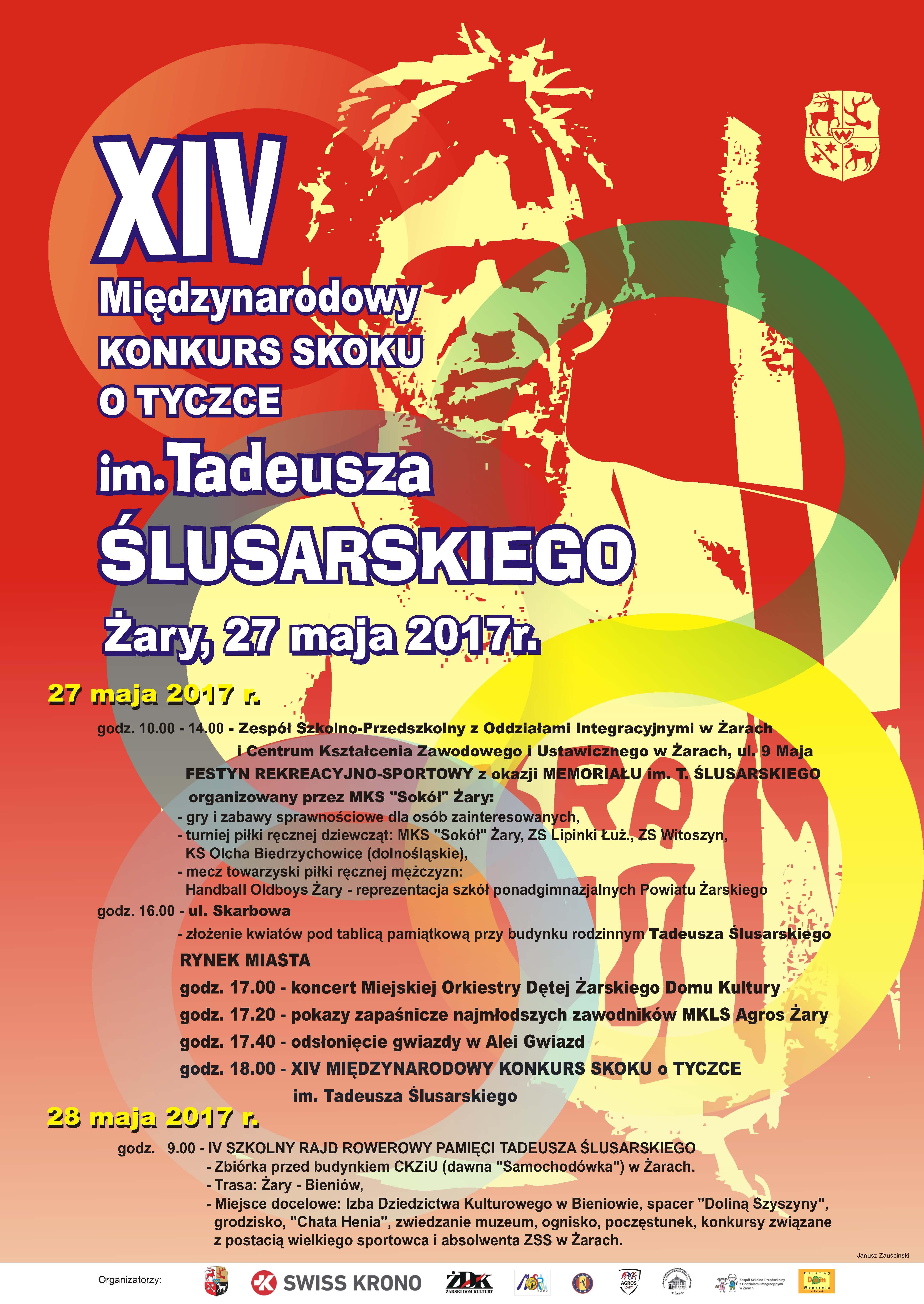 Ilustracja do informacji: XIV Międzynarodowy Konkurs Skoku o Tyczce