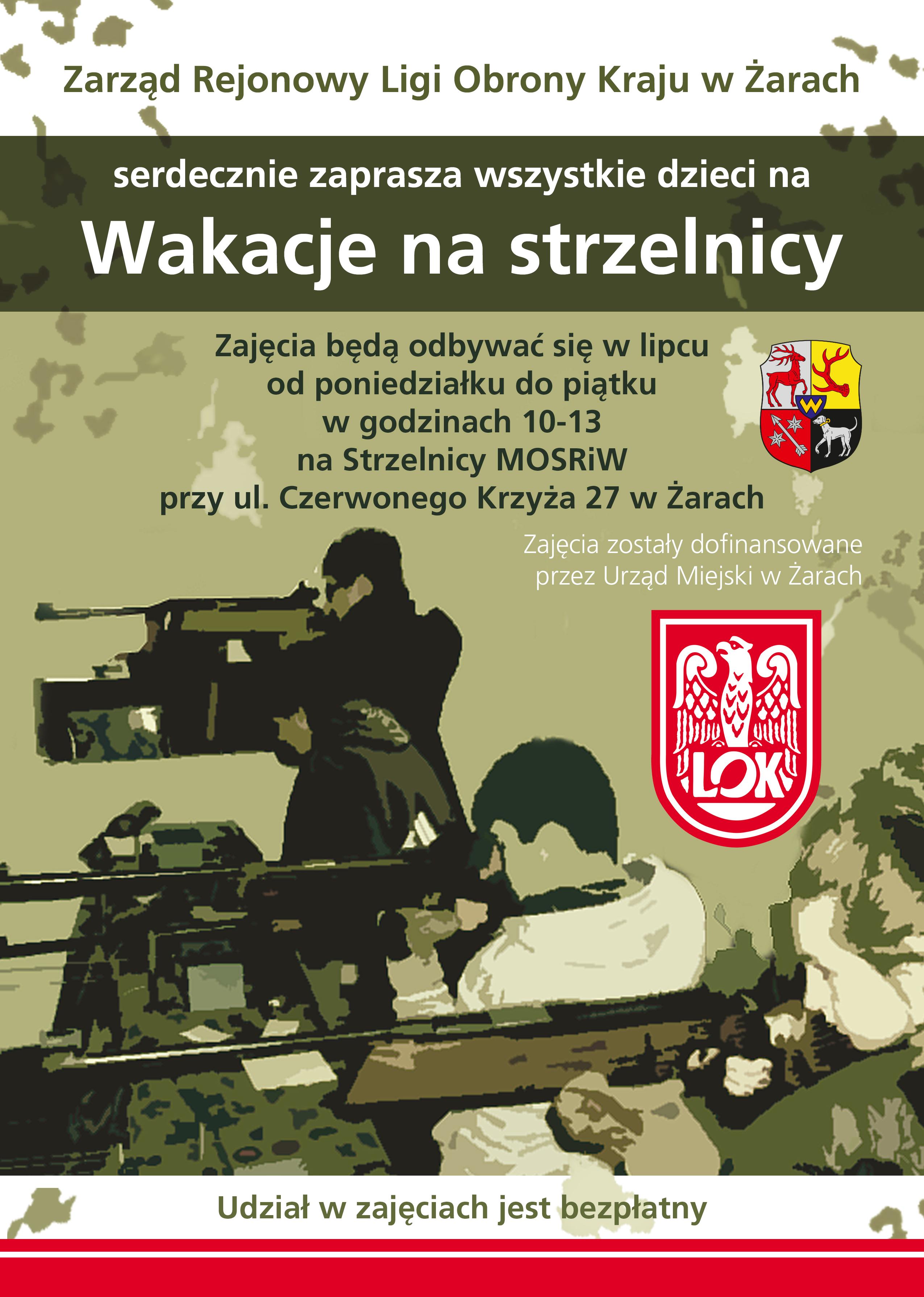 Ilustracja do informacji: Wakacje na strzelnicy