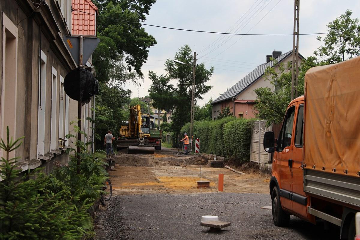 Ilustracja do informacji: Przebudowa ulicy Średniej