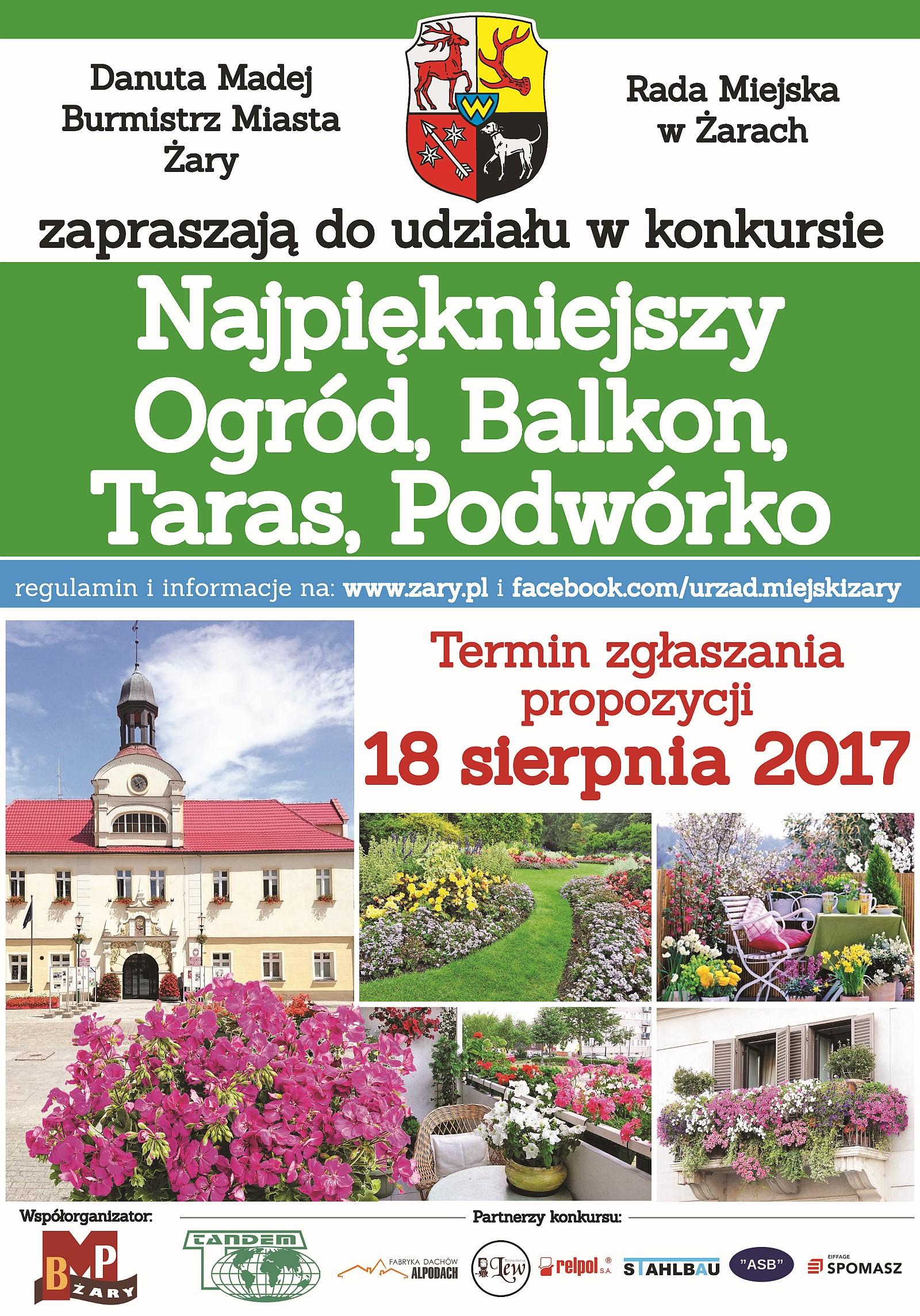 Ilustracja do informacji: Konkurs Na Najpiękniejszy Ogród, Balkon, Taras, Podwórko