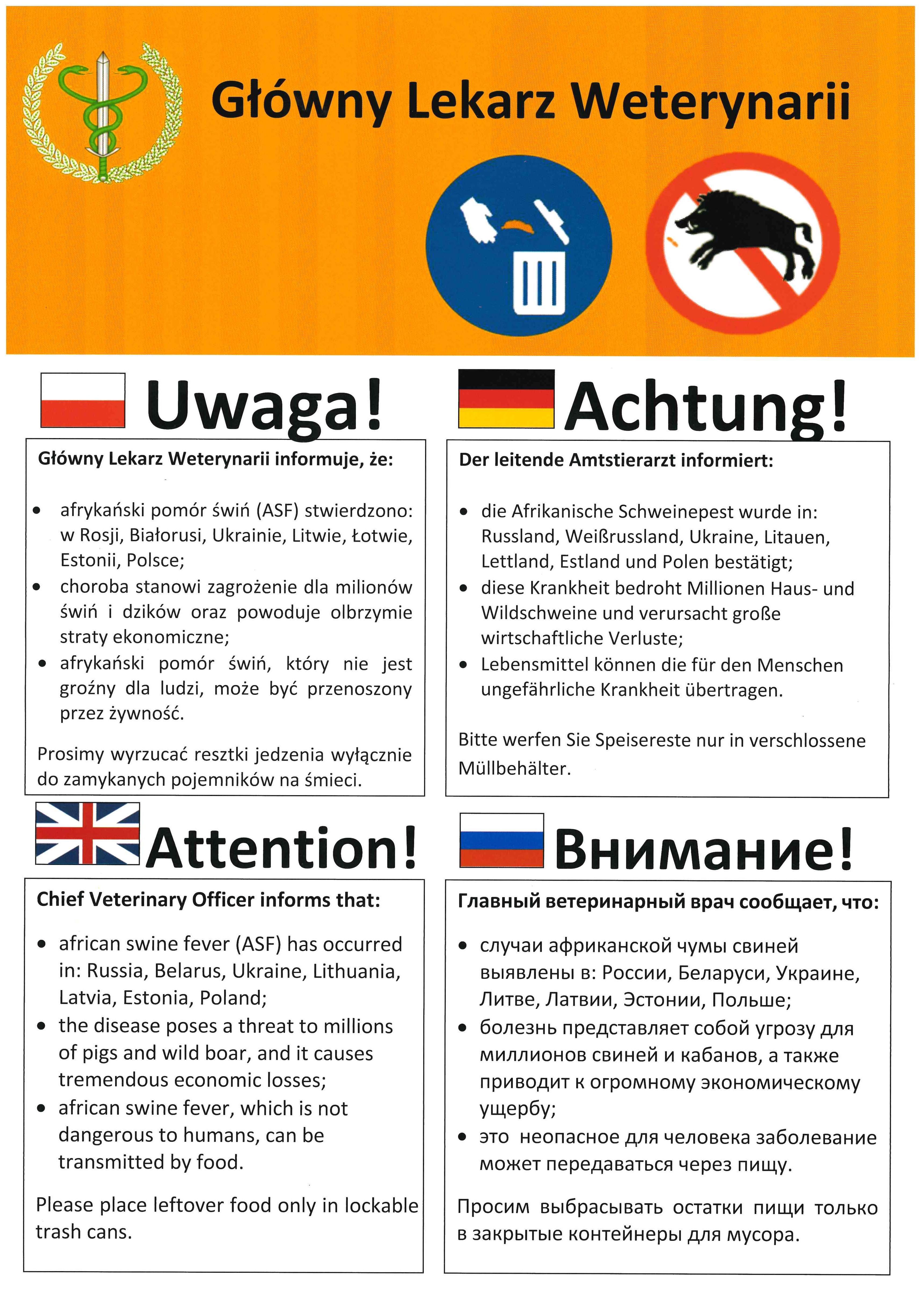 Ilustracja do informacji: UWAGA