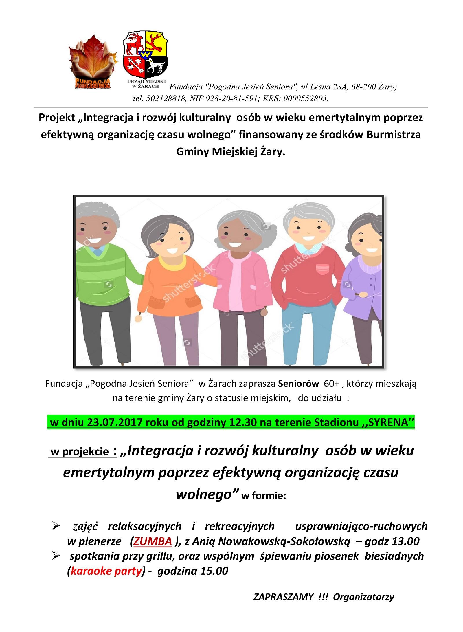 Ilustracja do informacji: Integracja i rozwój kulturalny osób w wieku emerytalnym poprzez efektywną organizację czasu wolnego
