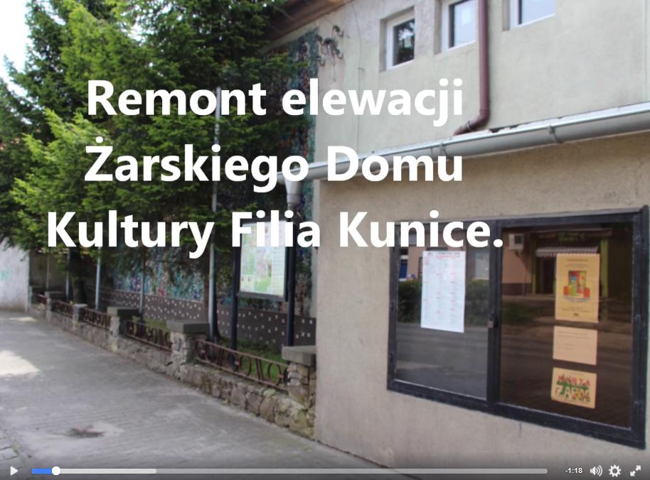Ilustracja do informacji: Nowa elewacja w filii ŻDK Kunice