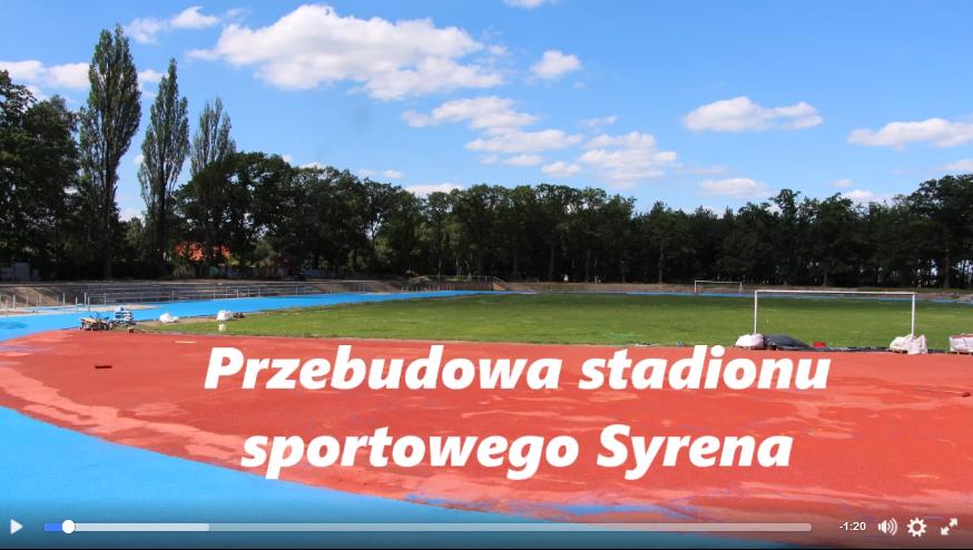 Ilustracja do informacji: Przebudowa stadionu sportowego Syrena