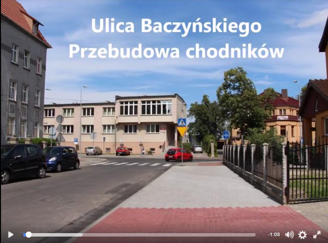 Ilustracja do informacji: Ulica Baczyńskiego - Przebudowa chodników