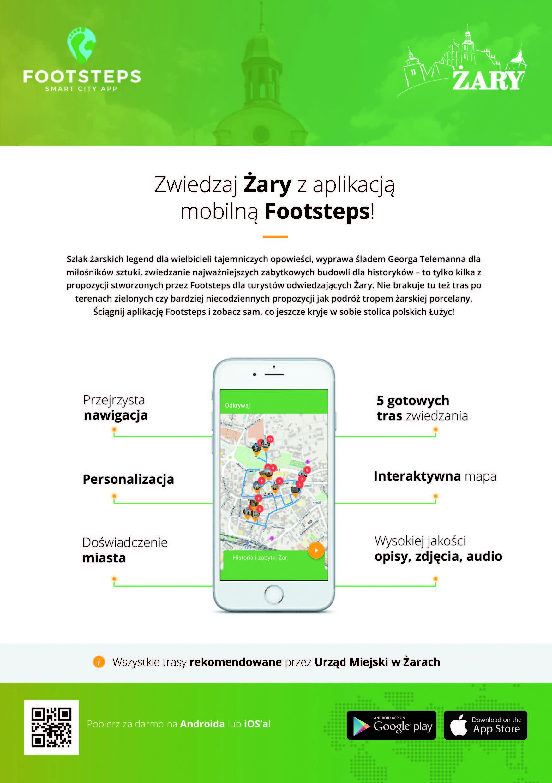 Ilustracja do informacji: Zwiedzaj Żary z aplikacją mobilną