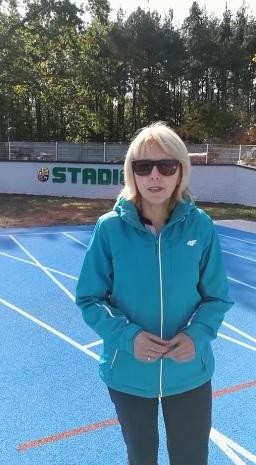 Ilustracja do informacji: Stadion lekkoatletyczny w Żarach
