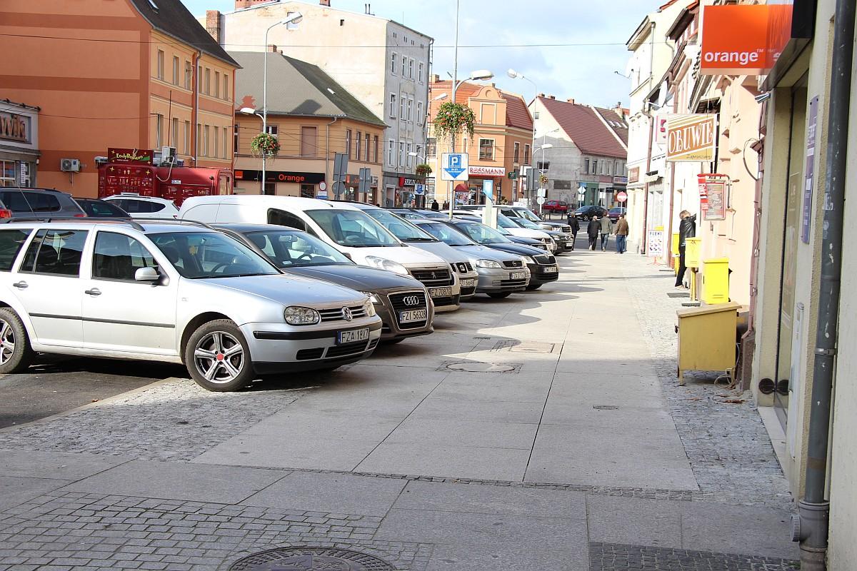 Ilustracja do informacji: Plac Przyjaźni i ulica Podwale w Żarach - nowe chodniki