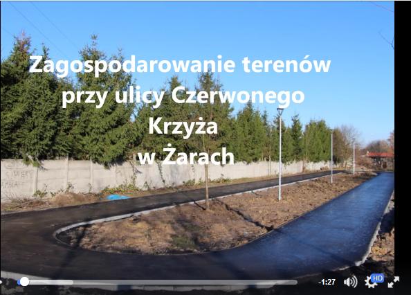 Ilustracja do informacji: Zagospodarowanie terenów przy ulicy Czerwonego Krzyża w Żarach