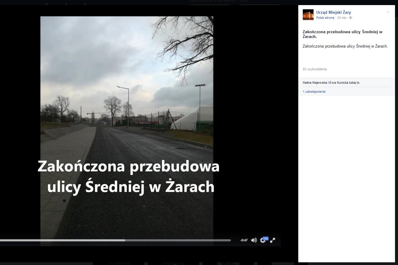 Ilustracja do informacji: Zakończona przebudowa ulicy Średniej w Żarach.