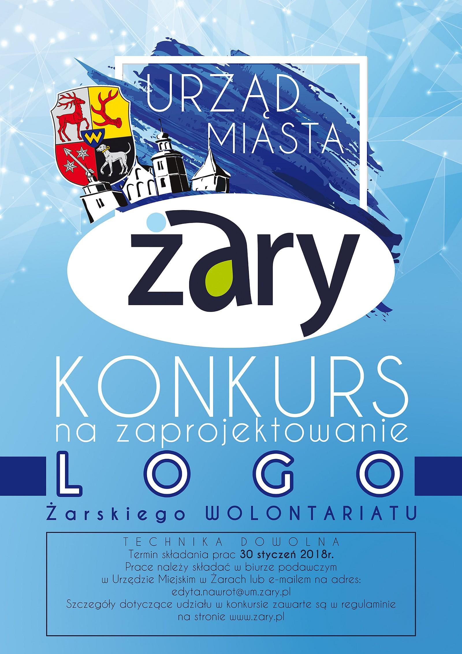 Ilustracja do informacji: Logo Żarskiego Wolontariatu