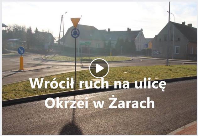 Ilustracja do informacji: Wrócił ruch na ulicę Okrzei w Żarach