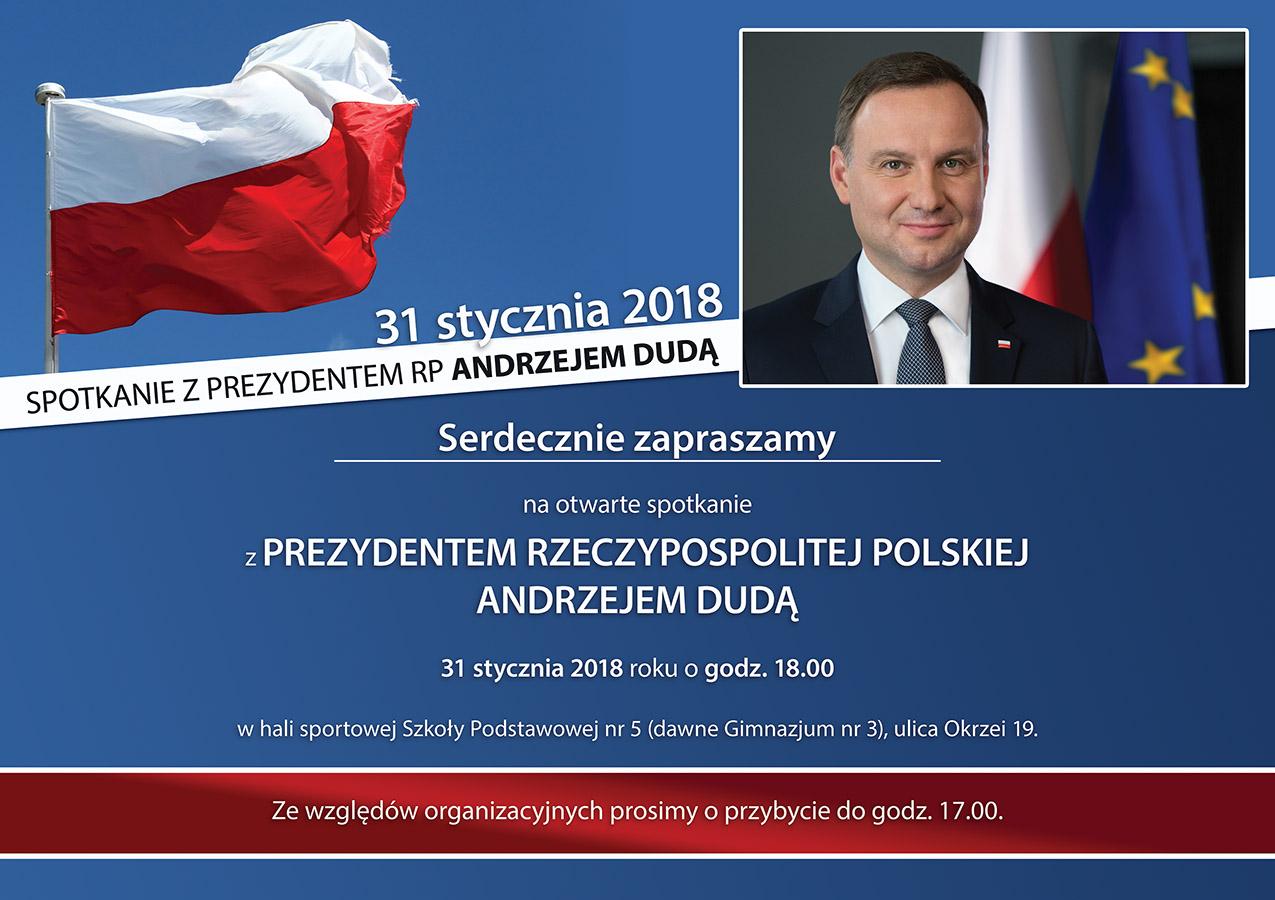 Ilustracja do informacji: Spotkanie z Prezydentem RP Andrzejem Dudą